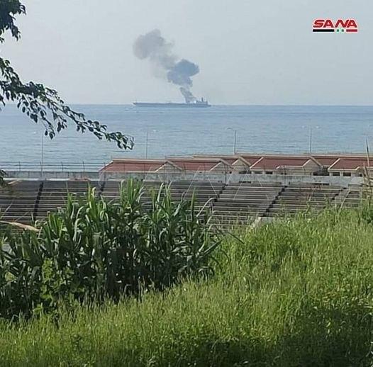 حمله به یک نفتکش در ساحل بانیاس سوریه + تصاویر